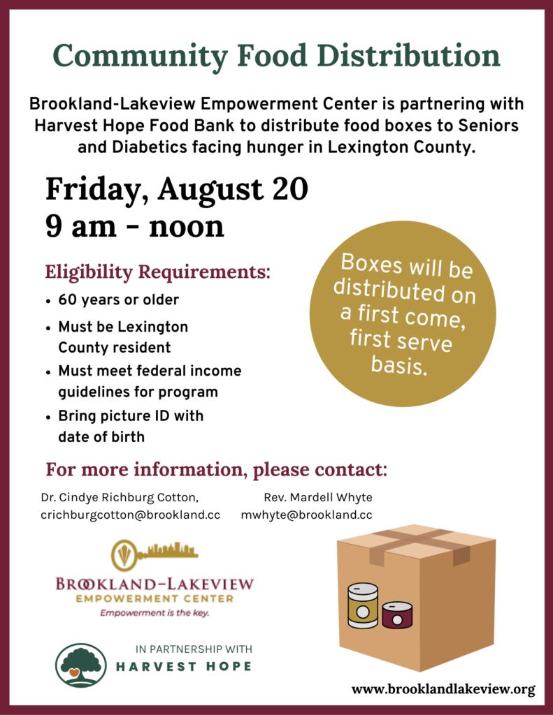 community food distribution event flyer