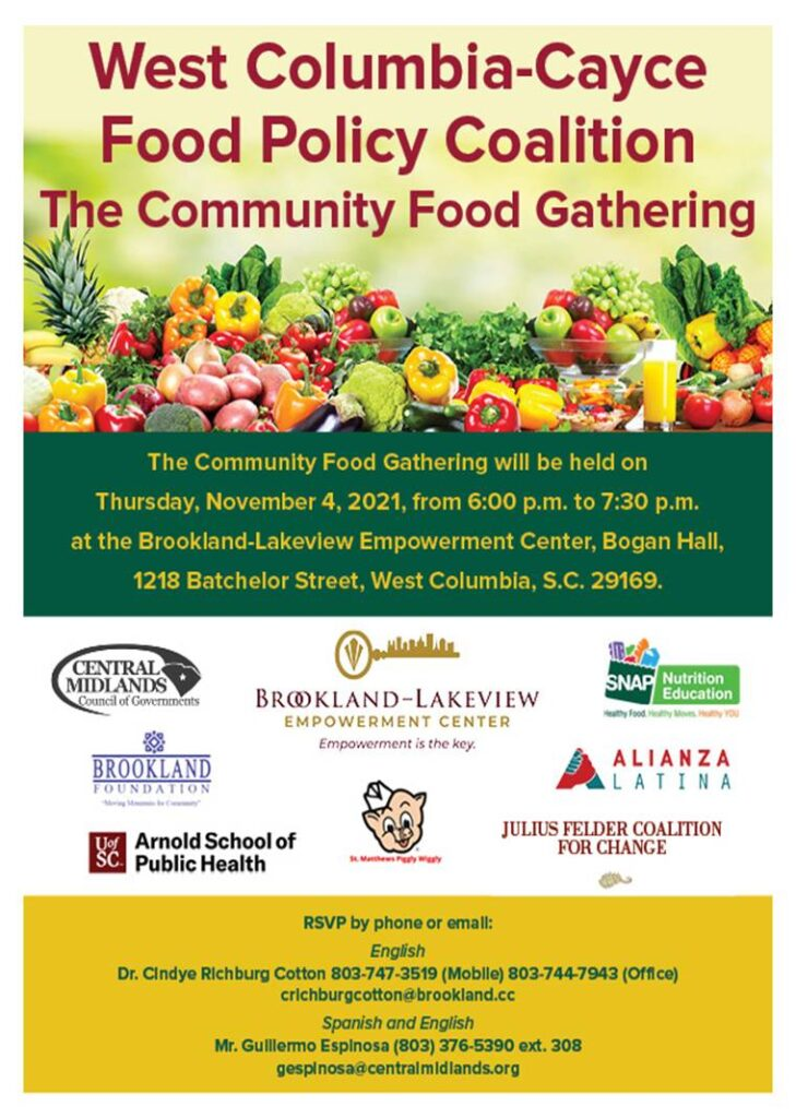Community food gathering flyer